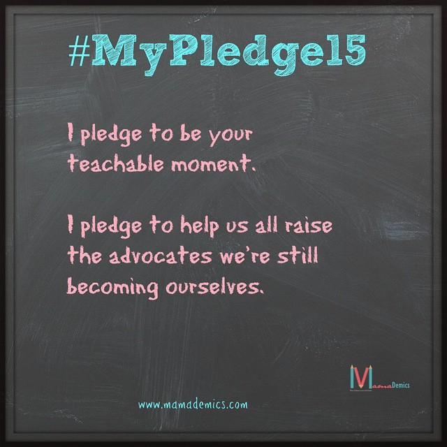 New post on #Mamademics-- #MyPledge15 is to be your teachable…