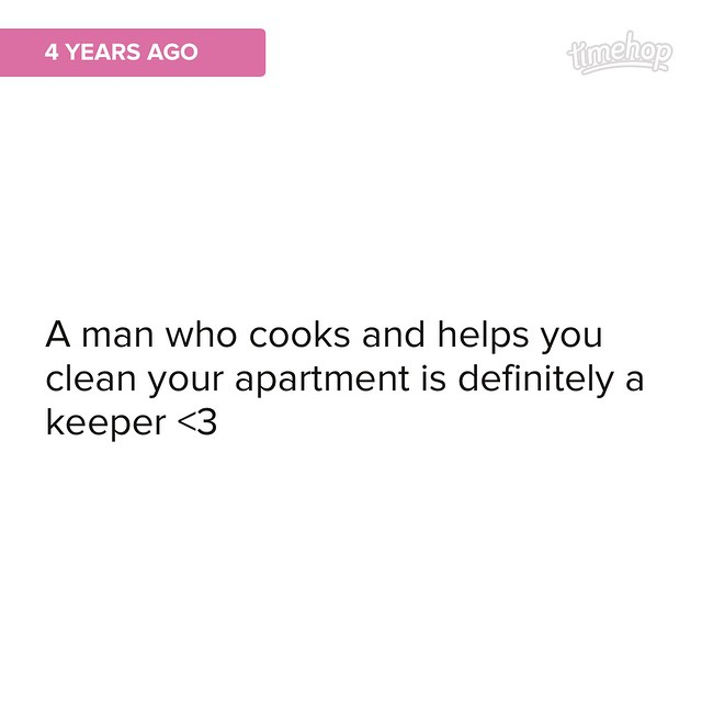 Good thing I married him later that year