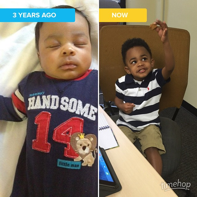 Left: The first time I took the tiny human to…