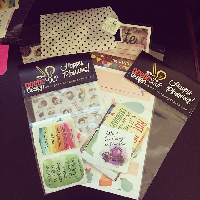 New planner goodies from @poeticsoupdesign... I have a problem