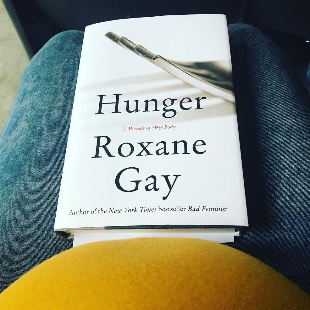 Blueberry and I are at a reading of Roxane Gayshellip