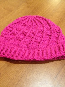 Beautiful shell stitch winter hat ($25)