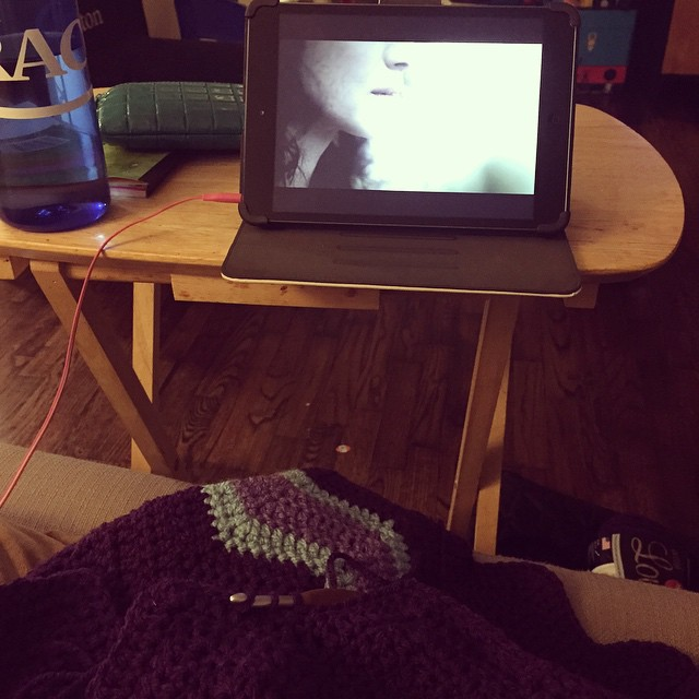 The evening wind down is now happening... #crochet #outlander