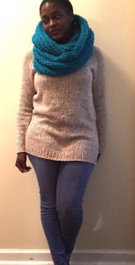 Electric Blue Oversized Infinity Scarf
