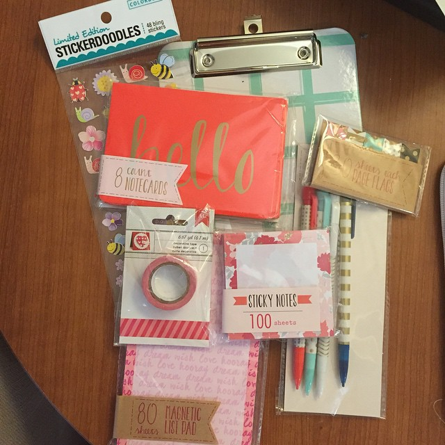 All my new goodies from @myprettyplanner1's giveaway came today. There's…