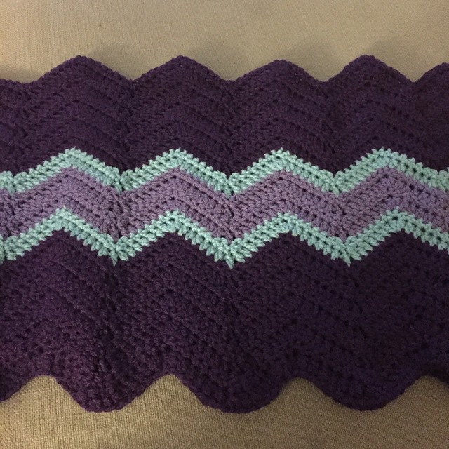 Slow and steady progress on the largest blanket I've ever…