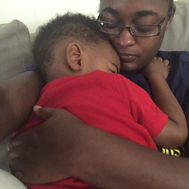 Sweet cuddles... Just what I need today... #mysonshine