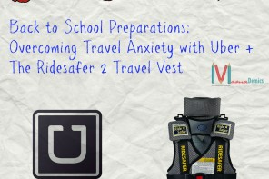 Back to School Preparations: Overcoming Travel Anxiety w/ Uber and the RideSafer Travel Vest