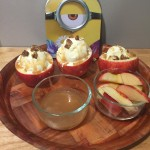 Minions Family Movie Night with Caramel Apple Sundaes
