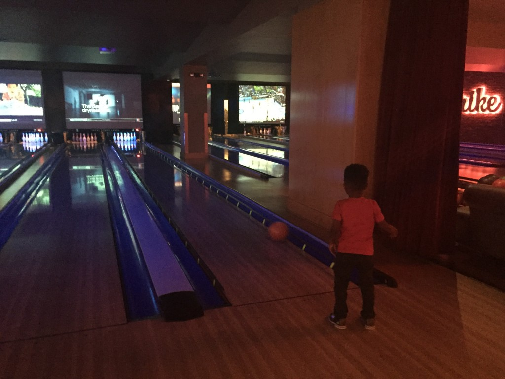 We went bowling and had lunch during one of my conference breaks.