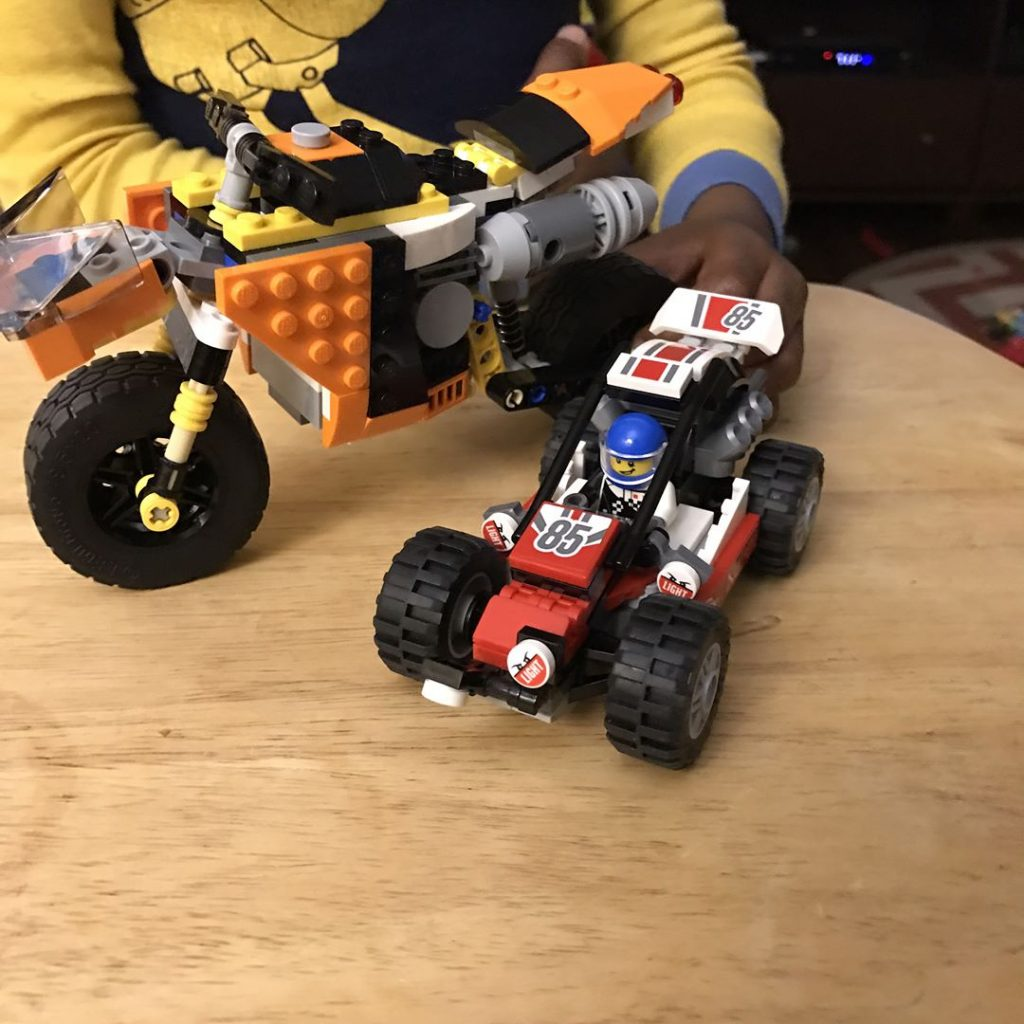 Todays Lego creations that motorcyclestreet bike pushed me to thehellip