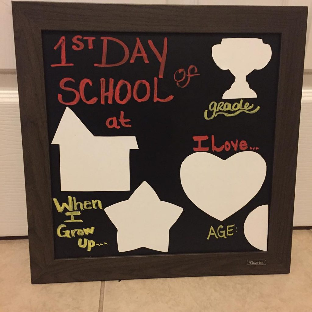 My DIY attempt at a 1st Day of School Boardhellip
