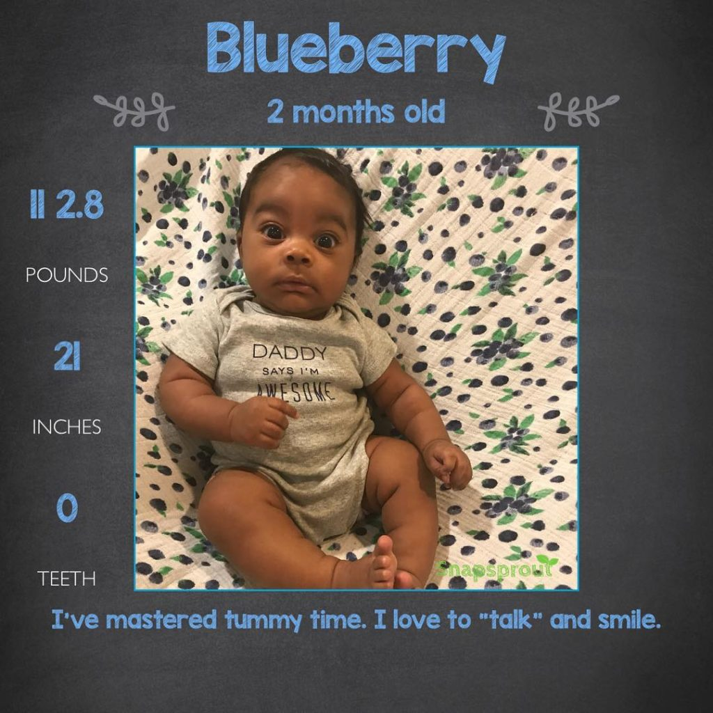 Blueberry is 2 months old and doing great Hes ahellip